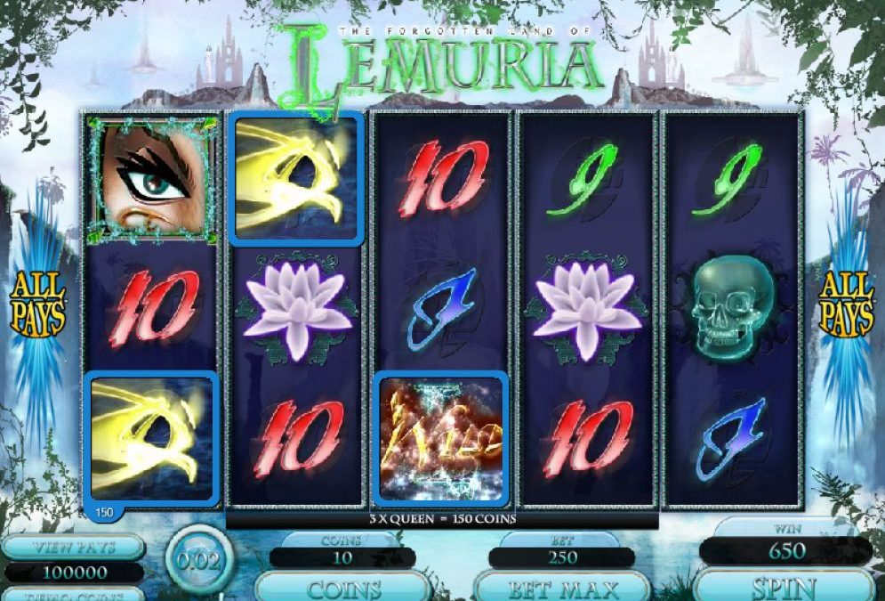 Have Fun With The Slots Of Forgotten Land Of Lemuria
